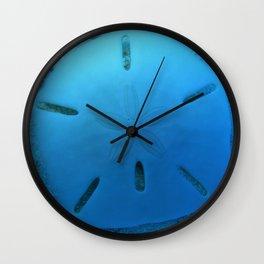 Six Keyhole Sand Dollar Wall Clock