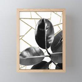 Ficus Elastica Geo #1 #tropical #foliage #decor #art #society6 Framed Mini Art Print