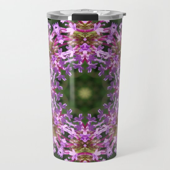 Constellation of Verbena flowers mandala Verbena bonariensis 1829 k2 by rvjdesigns