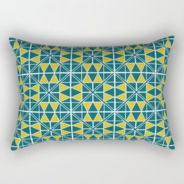 Emerald Glow Pattern Rectangular Pillow