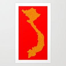 Vietnam Line Art Print
