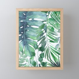 Tropical  Leaves Framed Mini Art Print