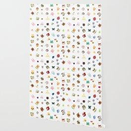animal crossing pattern Wallpaper
