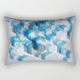 3D Hexagon Background X 3 Rectangular Pillow