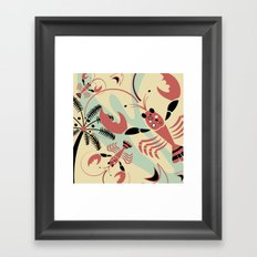 Lobster Rhumba Framed Art Print