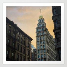 Historic New York Sunset Art Print