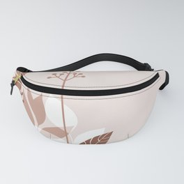 Botanicals and Butterfly Graphic Design 2 Sherwin Williams Cavern Clay SW7701 Fanny Pack