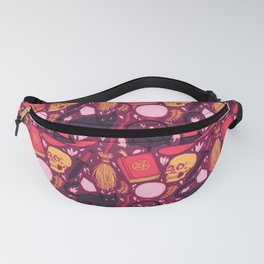 Witch Supplies in Wine Fanny Pack