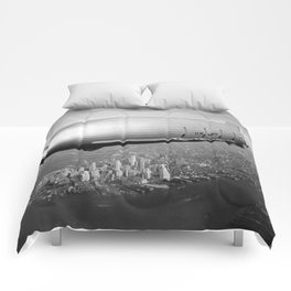 Airship over New York Comforters