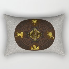 Ilvermorny Knot with House Shields Rectangular Pillow