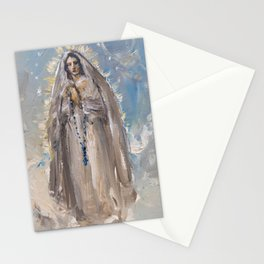 The apparition of Our Lady Stationery Cards