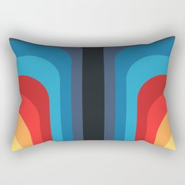 Retro Rainbow 01 Rectangular Pillow