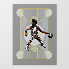 DR. J: On the Offensive Canvas Print