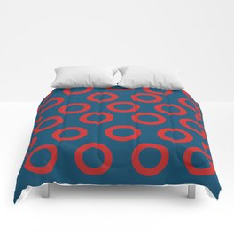 Fishman Donuts Red and Blue Comforters