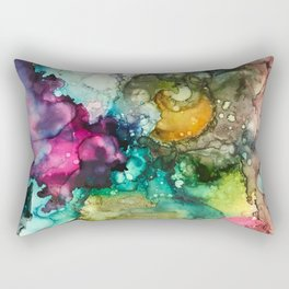 Abstract Colorful Nebulous Rectangular Pillow