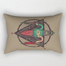 He, with the peculiar voice Rectangular Pillow