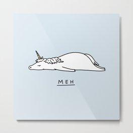 Meh Unicorn Metal Print