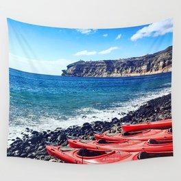 Greek Kayaks Wall Tapestry