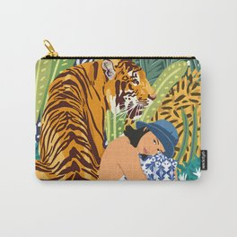 Awaken The Tiger Within #illustration #wildlife Carry-All Pouch