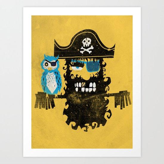 Trendy Pirate  Art Print