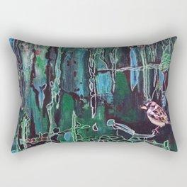 Small Brown Sparrow Rectangular Pillow