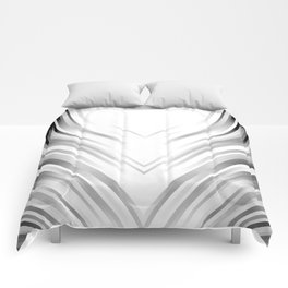 stripes wave pattern 3 bwi Comforters