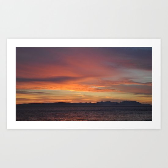 arran ,scotland Art Print