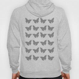 Gray Bold Mod Butterflies Hoody