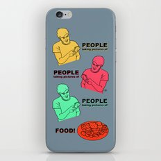 PEOPLE taking pictures of FOOD iPhone & iPod Skin