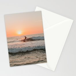 Summer Sunset Surfing Stationery Cards