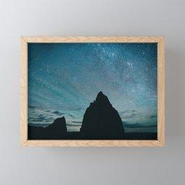 Milky Way night sky photography Framed Mini Art Print