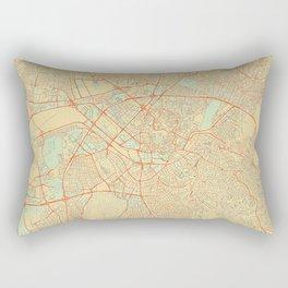 Ankara Map Retro Rectangular Pillow