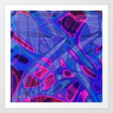 Colorful Abstract Stained Glass G298 Art Print