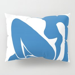 Matisse Cut Out Figure #1 Light Blue Pillow Sham