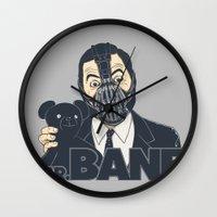 bane Wall Clocks featuring Mr. Bane by Triagus