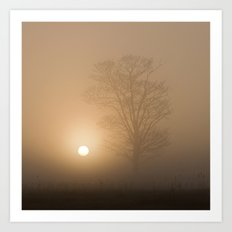 Sunrise over Wramplingham, Norfolk Art Print