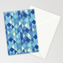 Aqua Glass Geometric Pattern Stationery Cards