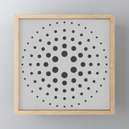 MidCentury Modern Spiral Dots Black & Grey Framed Mini Art Print
