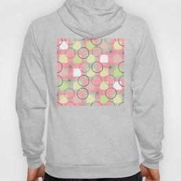 Squares and Circles / Pink / Abstract Geometric Pattern Hoody
