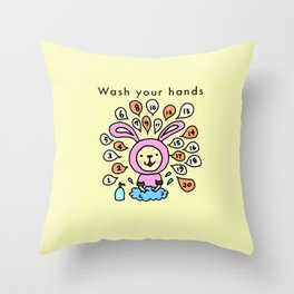 Wash your hands Throw Pillow