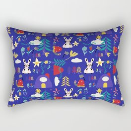 Tortoise and the Hare is one of Aesop Fables blue Rectangular Pillow