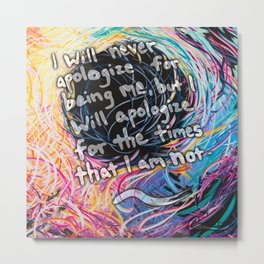Inspirational Quotes From Artist Michael Carini Metal Print