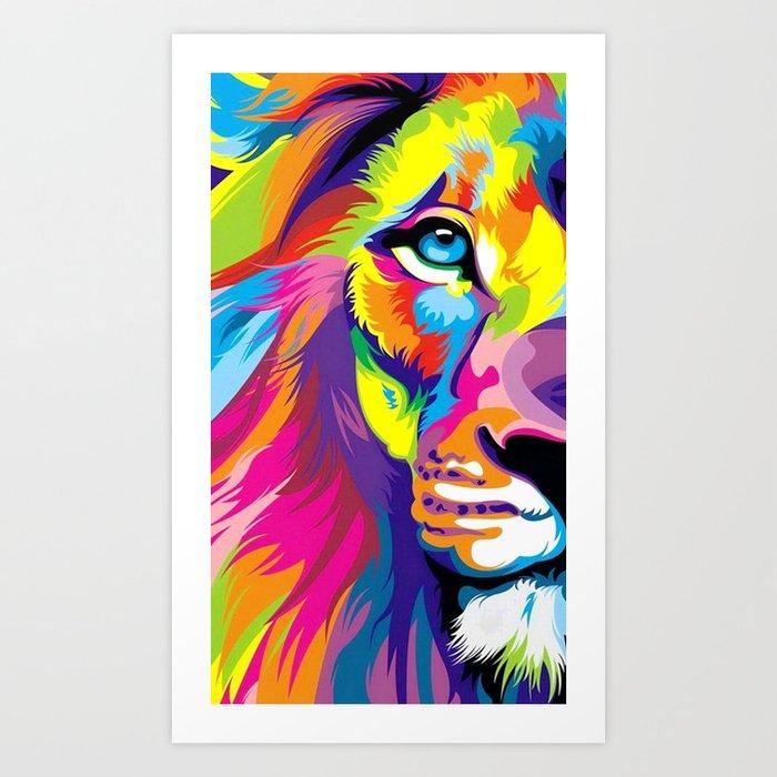 LION-FACE-ART Art Print
