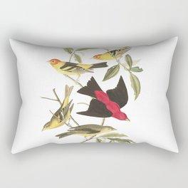 Louisiana Taneger and Scarlet Taneger - Vintage Illustration Rectangular Pillow