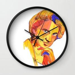 Rosalind Franklin by Aitana Pérez Wall Clock