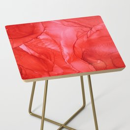 All Red Side Table