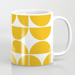 Mid Century Modern Geometric 04 Yellow Coffee Mug
