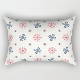 Seamless abstract floral pattern. 4 colors variations, pastel colors Rectangular Pillow