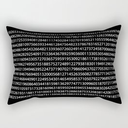 1000 Digits of Pi (Black) Rectangular Pillow