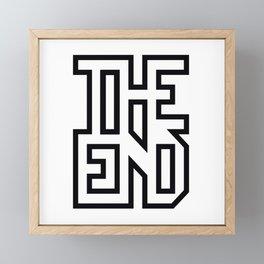 THE END Framed Mini Art Print